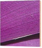Pure Purple Wood Print