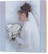 Pure Spotless Bride Wood Print