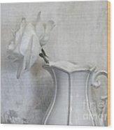 Pure White Wood Print by Marsha Heiken