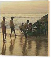 Puri Fishermen Wood Print