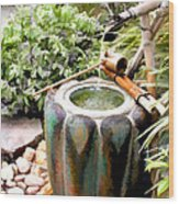 Purification Basin For Tea Ceremony Wood Print