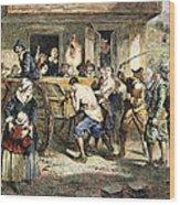 Puritans: Punishment, 1670s Wood Print