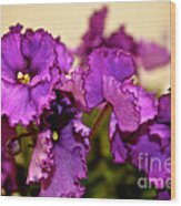 Purple And More Purple Wood Print