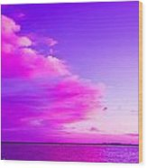 Purple And Pink Wood Print
