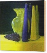 Purple And Yellow Still Life Wood Print