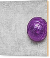 Purple Ball Cat Toy Wood Print