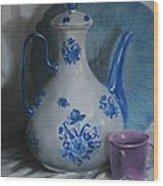 Purple Cup Wood Print