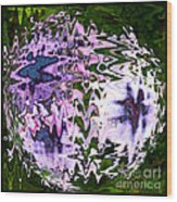 Purple Daisies World - Abstract Art Wood Print