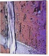 Purple Damage. Wood Print