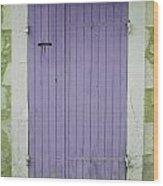 Purple Door Number 46 Wood Print by Georgia Fowler