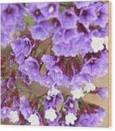 Purple Explosion Wood Print