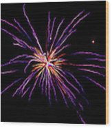 Purple Explosion Wood Print