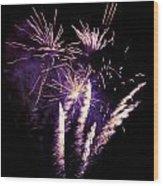 Purple Firework Wood Print