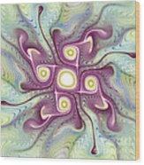Purple Fractalishus Wood Print