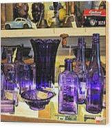 Purple Glass Collection Wood Print