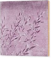 Purple Gras Wood Print