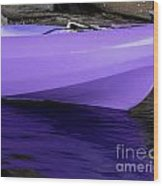 Purple Kayak Wood Print