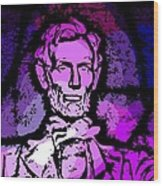 Purple Lincoln Wood Print