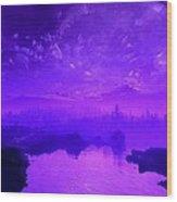 Purple Mist Wood Print