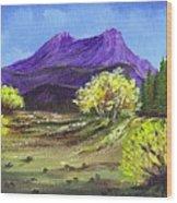 Purple Mountain Beauty Wood Print by Janna Columbus