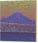 Purple Mountain Majesty Sunset Wood Print