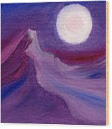 Purple Night 2 Wood Print