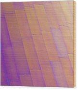 Purple Orange Two Wood Print