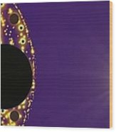 Purple Planet Series  Wood Print