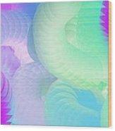Purple Planet Series Wood Print