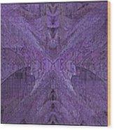 Purple Poeticum Wood Print