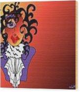 Purple Rain Wood Print by Artzilla Ink