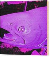 Purple Salmon Wood Print