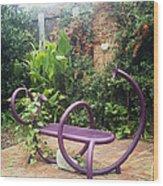Purple Seat Wood Print