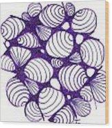 Purple Shells Wood Print