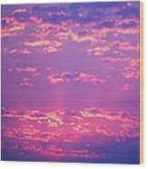 Purple Sky  Wood Print by Kevin Bone