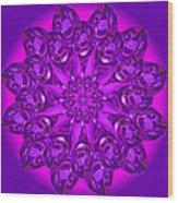 Purple Spoonz Wood Print by Linda Pope
