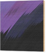 Purple Sunrise Wood Print
