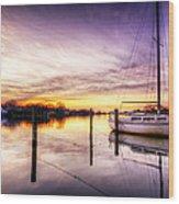 Purple Sunrise Wood Print by Vicki Jauron
