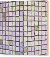 Purple Tiles Wood Print
