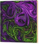 Purple Transformation Wood Print