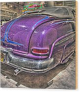 Purplre Car Dearborn Mi Wood Print