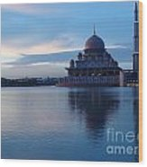 Putrajaya Mosque At Evening Wood Print