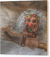 Puukko Troll Wood Print
