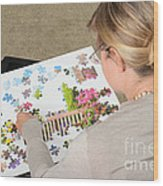 Puzzle Therapy Wood Print