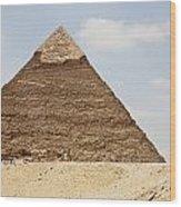 Pyramid Of Khafre Chephren, Giza, Al Wood Print