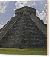 Pyramid  Of Kukulkan  Wood Print
