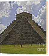 Pyramid Of Kukulkan Two Wood Print
