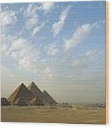 Pyramids,giza,egypt Wood Print