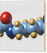 Pyrrolysine, Molecular Model Wood Print