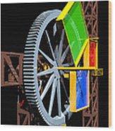 Pythagorean Machine Portrait 1 Wood Print